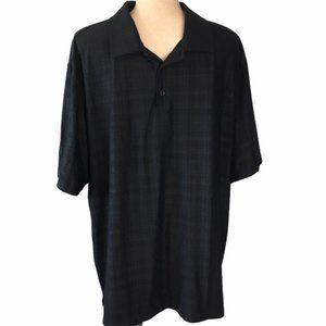 NIKE Golf Men's Black Print Short Sleeve Polo XL